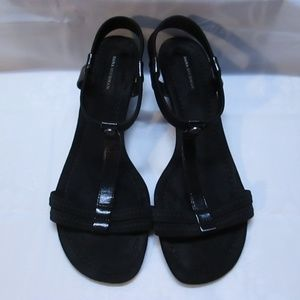 women Dana Buchman black sandles size 9.5 m